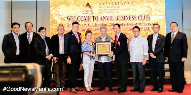 Dr. Lucio Tan Receives 1st ALAB Award from Anvil Business Club