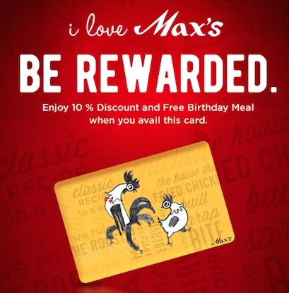Max's Rewards Card