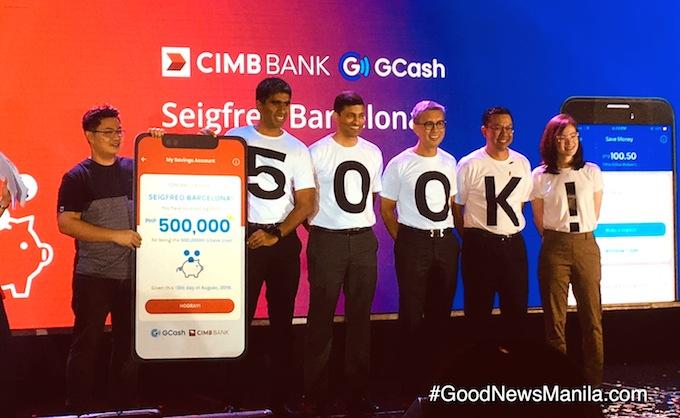 GCash & CIMB Bank Marks 500,000th Customer Milestone! – Good