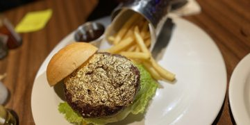 24 Karat Gold Leaf Burger