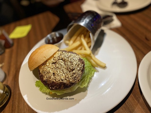 24 Karat Gold Leaf Burger