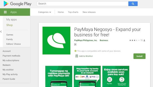 Download PayMaya Negosyp App