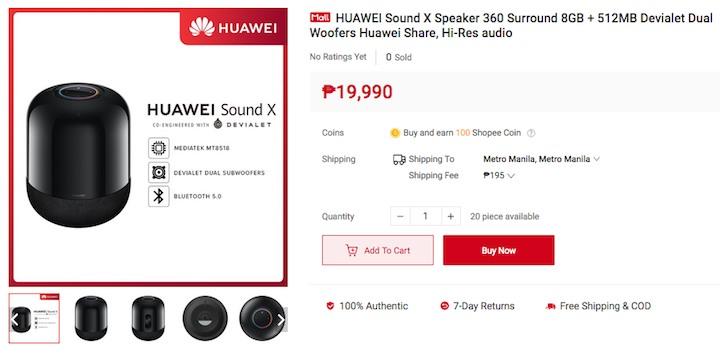Huawei Sound X Speaker