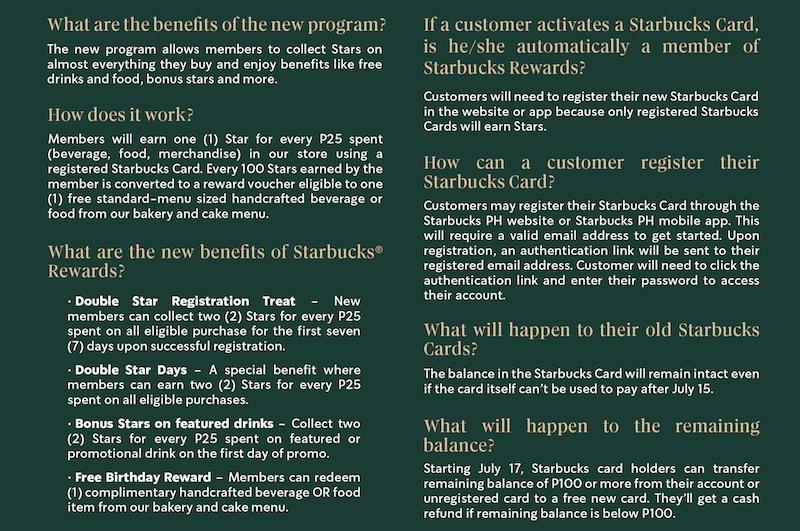 Starbucks Rewards FAQ