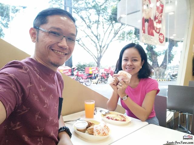 Jonel and Marj at Jollibee Clark, Pampanga