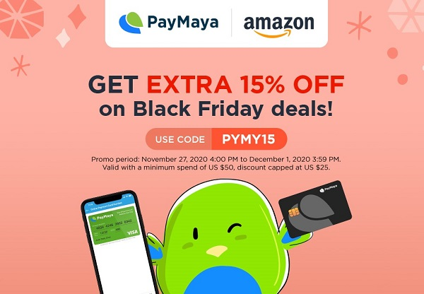PayMaya x Amazon for Black Friday Sale!