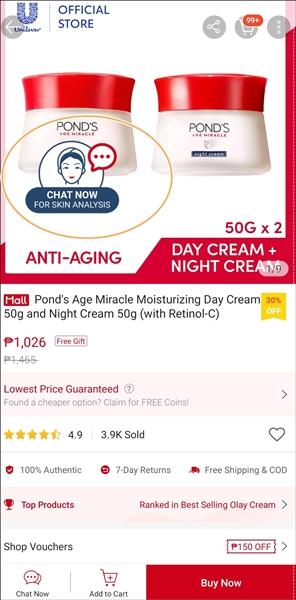 Skin Advisor Live (SAL) on Shopee