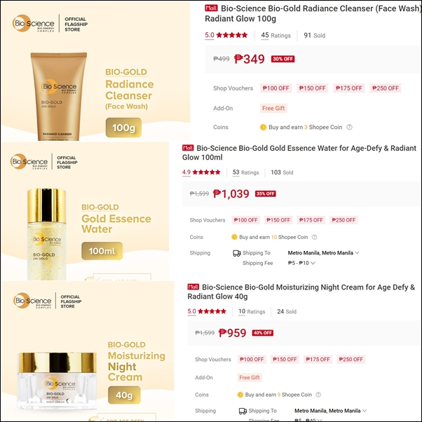 Bio Science Gold SALE on Shopee!