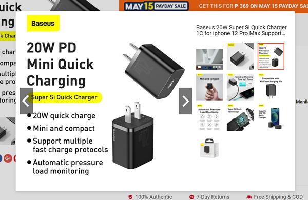 20WP Mini Quick Charging