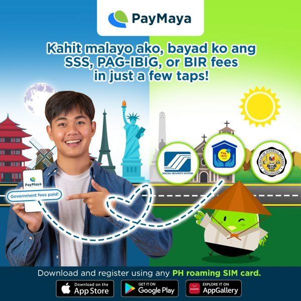 PayMaya Overseas Goverment Bills