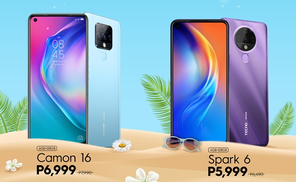 Spark 6 and Camon 16 Summer Deals on Lazada and Shopee