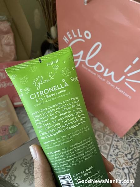 Hello Glow Citronella lotion