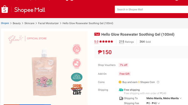 The official store of Hello Glow on Shopee Mall
