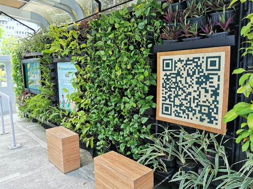 Scan the QR Code to access your free water refill