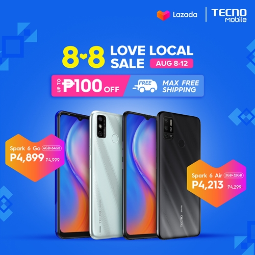 The Greatest Deals Are Coming To TECNO Mobile Online Stores This 8.8