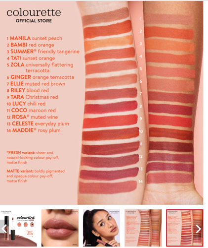 Colourette Colourtint in Emma Shades