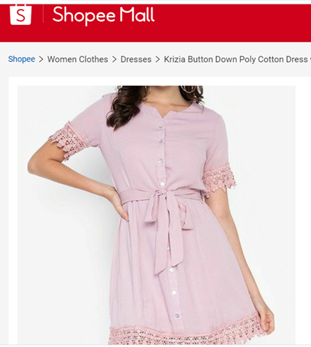 Krizia Button Down Poly Cotton Dress with Trimmings
