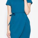 Krizia Premium Knit Stretch Overlap Dress