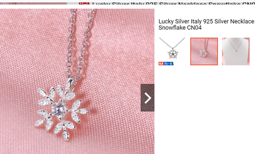 Lucky Silver Italy 925 Silver Necklace Snowflake