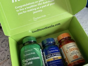 Puritan's Pride Vitamin C, Melatonin and Magnesium Citrate