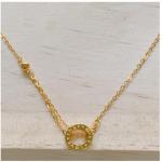 18k Saudi Gold Pawnable Ladies Necklace Love Design
