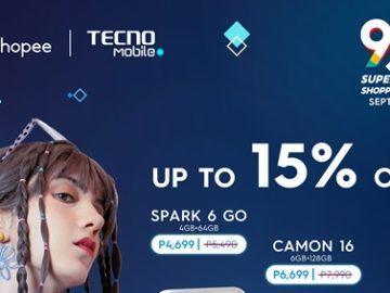 TECNO 9.9 Shopee Promo