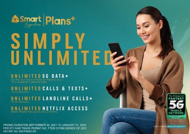 Smart Pioneers Unli 5G postpaid, Offers Signature Plans+